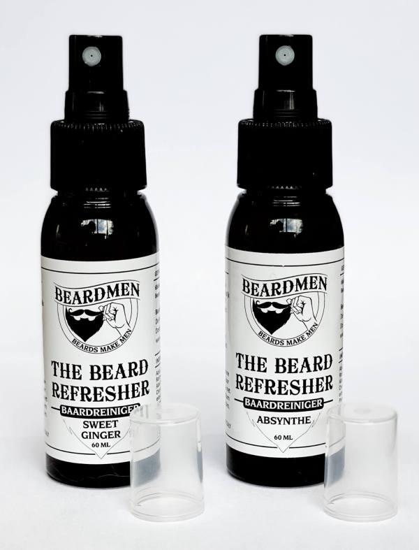 The Beard Refresher / baardreiniger van Beardmen B4men Webshop Flacon van beide geuren