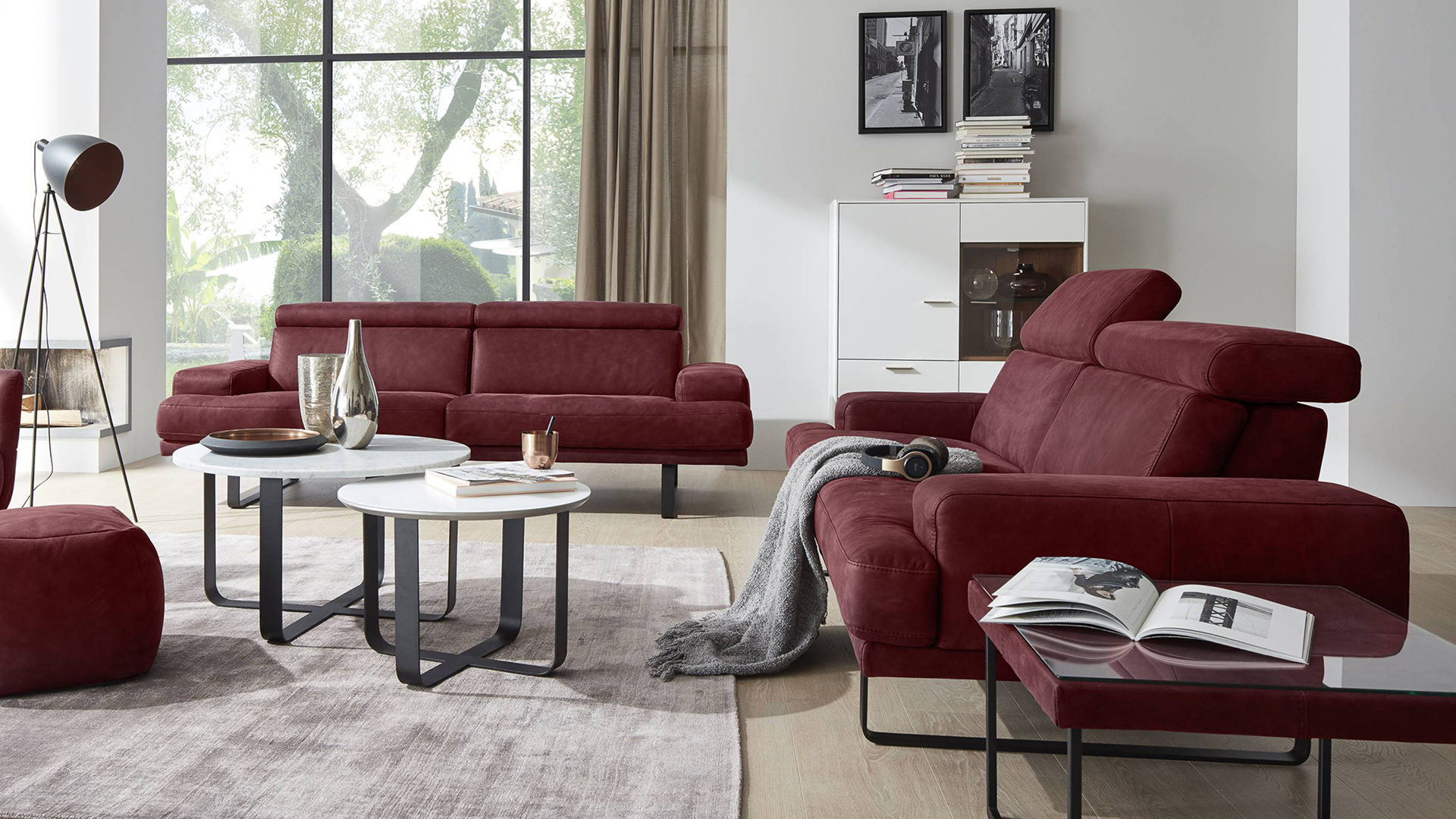 mobel bernskotter mulheim mobel a z sofas couches polstergarnituren interliving interliving sofa serie 4152 ledergarnitur dunkelrotes nubukleder