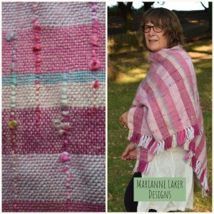handwoven wrap silk and mohair pink