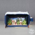 Christmas Message in a Bottle - Snowy Village