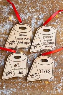 2020 toilet roll christmas decoration