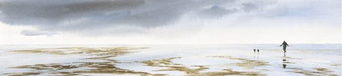 low tide the wash norfolk print by katie millard