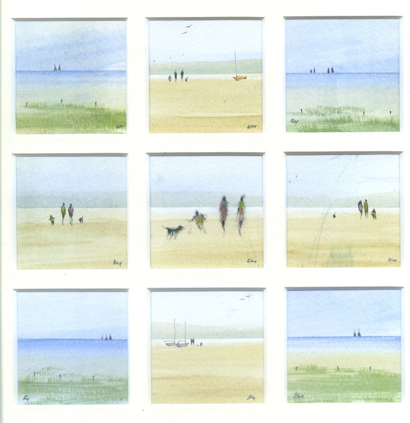Time For Home, watercolour from the Snapshots of Norfolk collection by Katie Millard