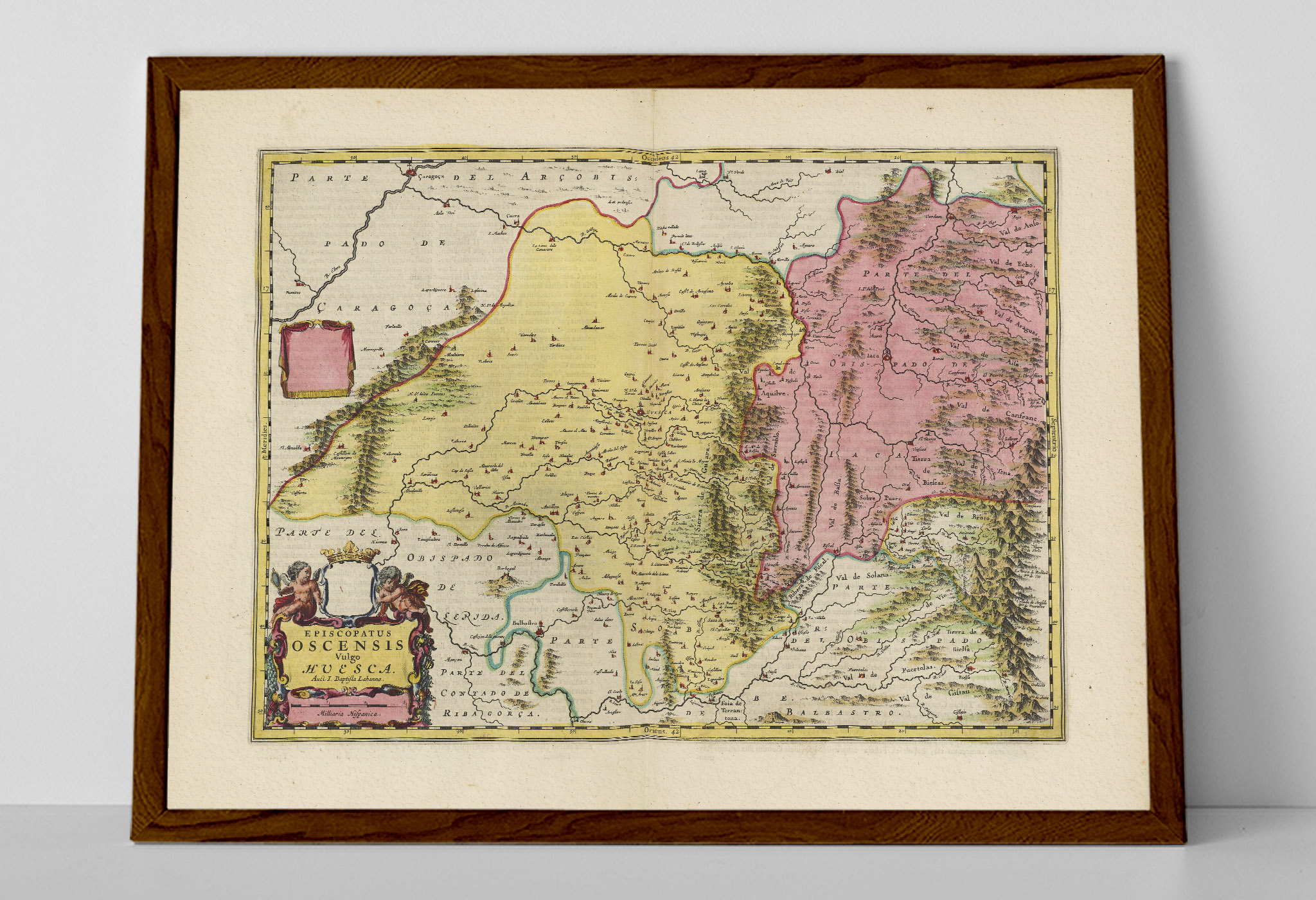 Map Of Spain Huesca.Old Map Of Huesca Aragon Blaeu Prints Buy Historical Map Prints