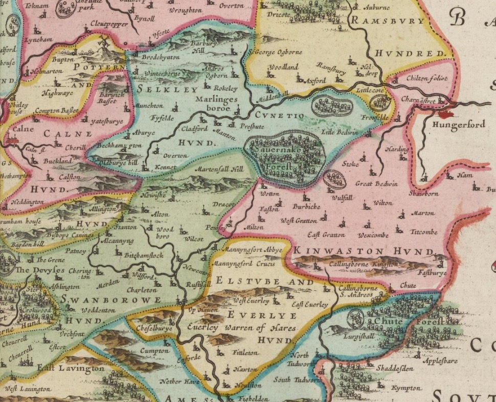Old Map Of Wiltshire Blaeu Prints - Old map shop