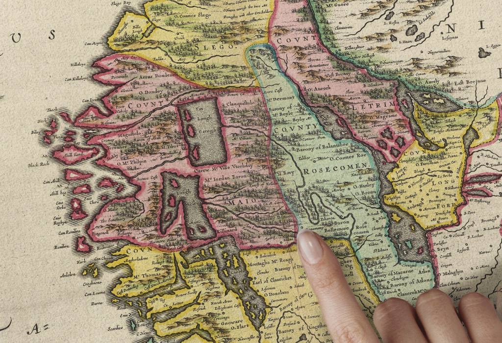 Old map of galway county galway blaeu prints purchase galway malvernweather Choice Image