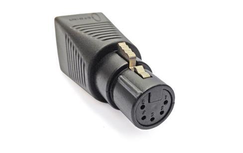 C Point Rj45 To Xlr 5 F Adapter