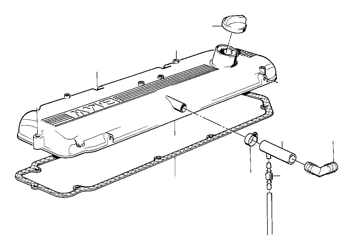 Bmw 318i Vacuum Hose White 3 3x1 8 Crankcase