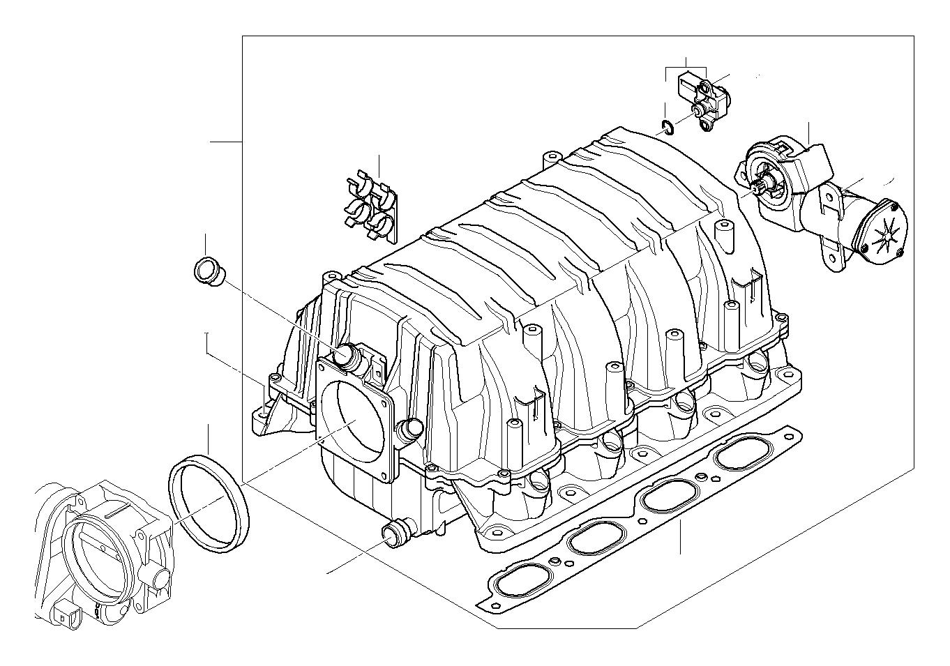 Bmw X3 Differential Pressure Sensor Engine Manifold