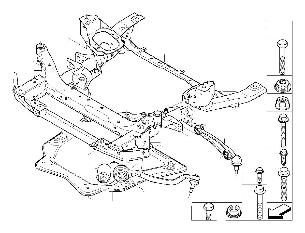 Bmw 335ix Hexagon Screw With Flange M14x1 5x60 10 9 Axle Suspension