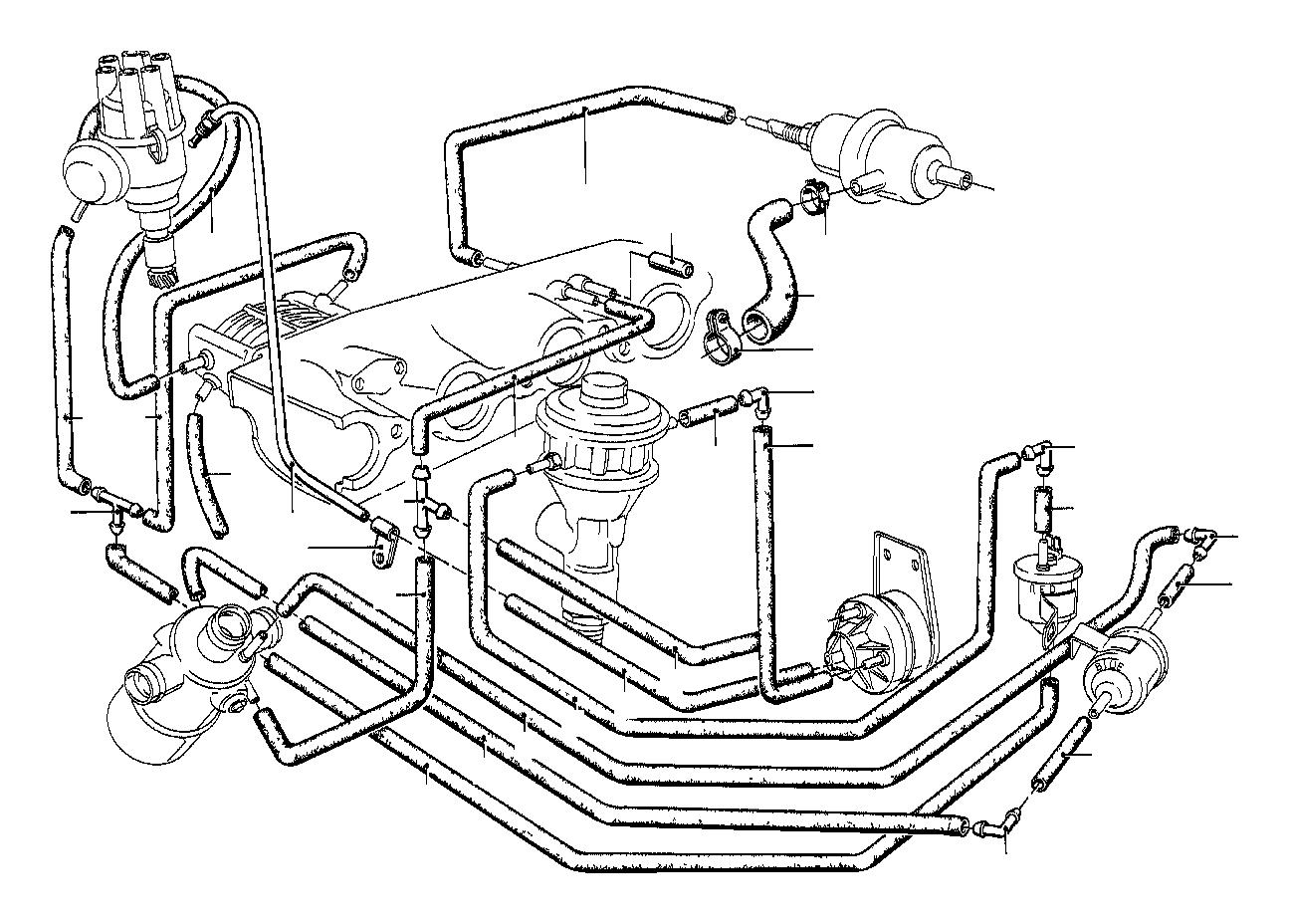 Bmw 318i Vacuum Hose White 3 3x1 8 Vacum