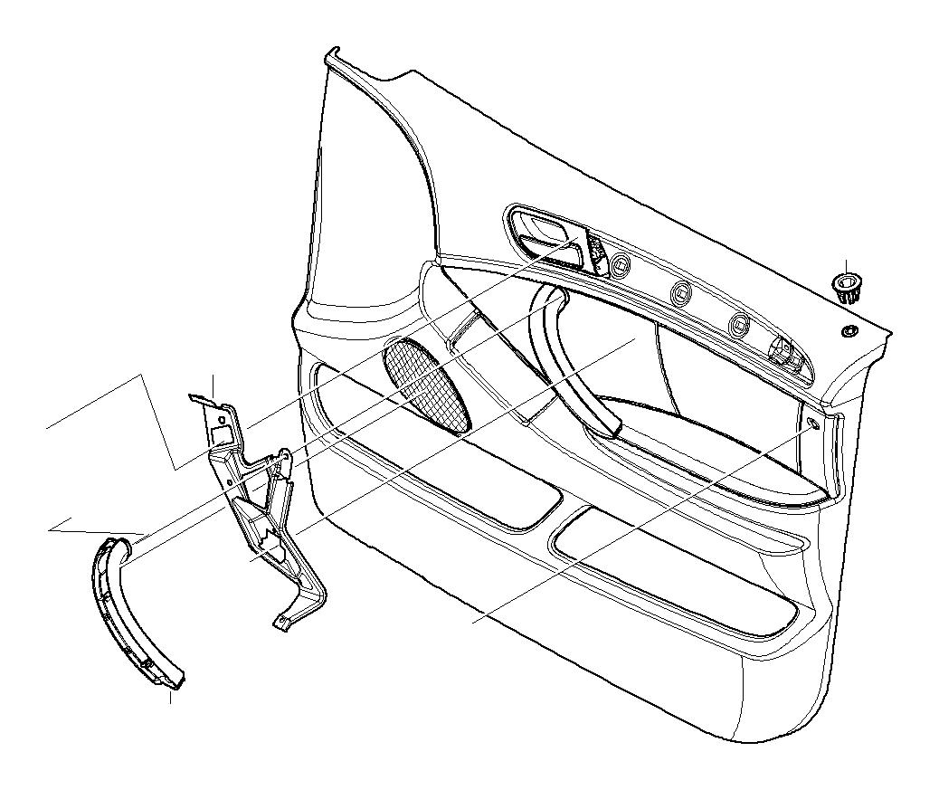 Bmw X5 Door Handle Front Left Grau
