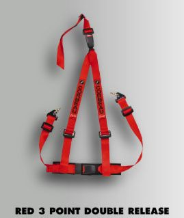Corbeau Red 3 Point Retractable Harness Broncograveyard