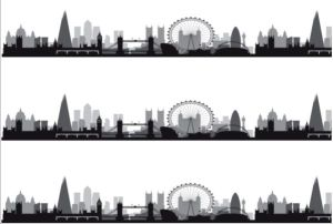 Cake Strip London Skyline