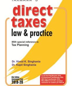 CA Final Direct Tax Book by Vinod K Singhania for May 2019 (Both Syllabus)