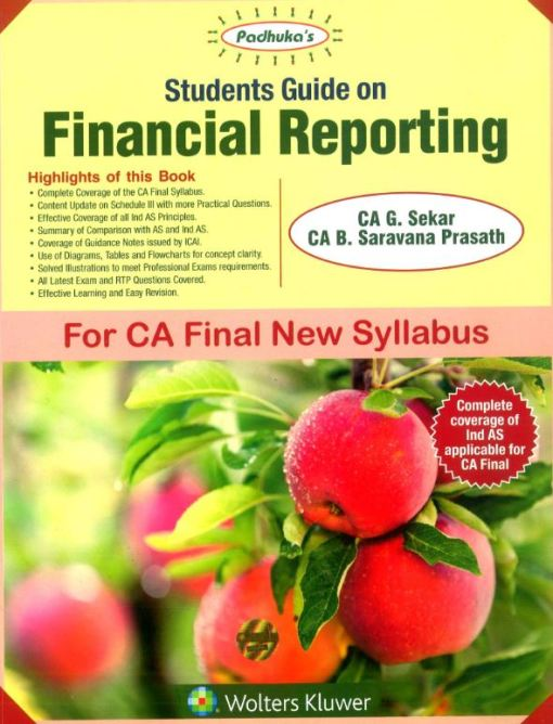 CA Final Financial Reporting Book by B Saravana Prasath, G Sekar for May 2019 (New Syllabus)