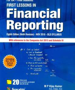 CA Final Financial Reporting Book by M P Vijay Kumar for May 2019 Exam