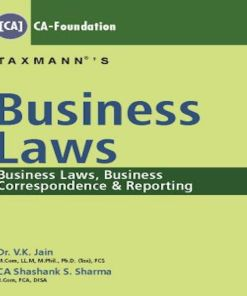 CA Foundation Business Laws Book by V K Jain for June 2018 Exam