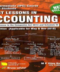 CA IPCC Accounting Book by MP Vijay Kumar for May, Nov 2018 (New Syllabus)
