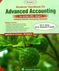 CA IPCC Advance Accounting Book by G Sekar, B Sarvana Prasath for May 2019 Exam