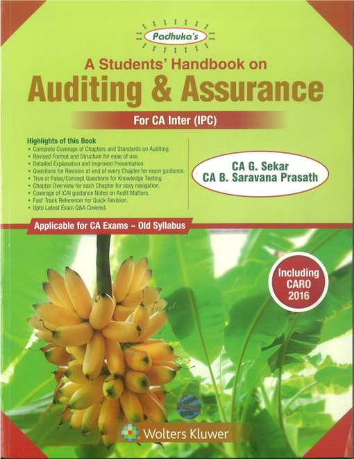 CA IPCC Auditing and Assurance Book by G Sekar, B Sarvana Prasath for May 2019