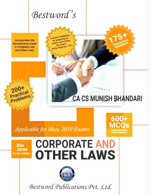 CA IPCC Law Handbook by Munish Bhandari for May 2019 (New Syllabus)