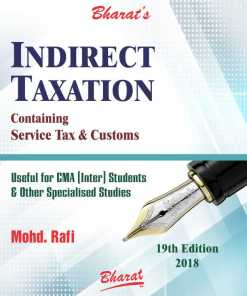 CMA Inter Indirect Taxation Book by Mohd. Rafi for June 2018 Exam