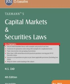 CS Executive Capital Market and Securities Law Book by NS Zad for Dec 2018