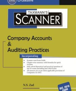 CS Executive Company Accounts and Auditing Practices Scanner by NS Zad Dec 2018