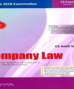 CS Executive Company Law Book by Amit Vohra for June 2018 Exam