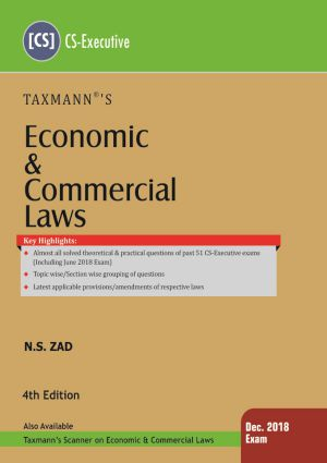 CS Executive Economic and Commercial Law Book by NS Zad For Dec 2018 Exam