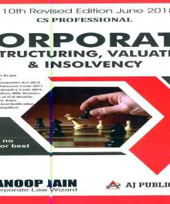 CS Professional Corporate Restructuring Book by Anoop Jain For June 2018 Exam