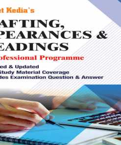 CS Professional Drafting, Appearances and Pleadings Book by Sangeet Kedia for June 2018 Exam
