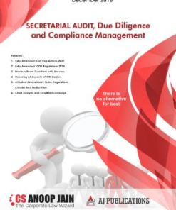CS Professional Secretarial Audit, Compliance Management and Due Diligence Book by Anoop Jain For Dec 2018 Exam