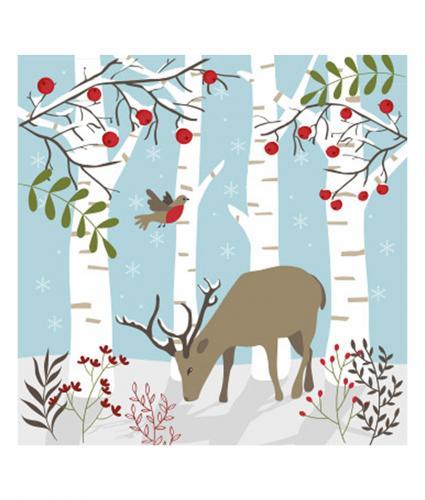 Woodland Reindeer Christmas Card Pack Of 10 Cancer