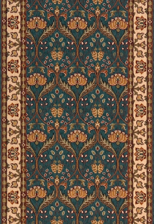 Persian Garden Pg 12 Teal Blue Stair And Hallway Runner By Momeni   Stick On Stair Runners   Steel Gray   Bullnose Carpet   Stair Riser   Area Rugs   Non Skid Carpet