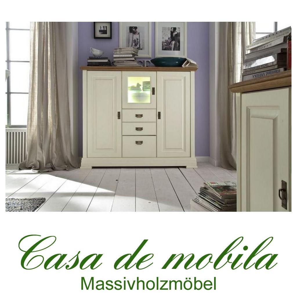 massivholz highboard holz kiefer massiv champagner lackiert wildeiche geolt nordic home