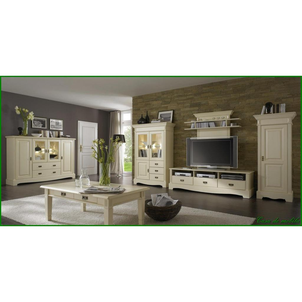 massivholz wohnzimmermobel set wohnzimmer kiefer massiv cremeweiss landhaus paris komplett vintage