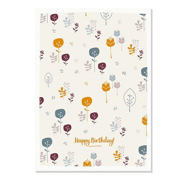 Postcard Happy Birthday Flowers Cats On Appletrees 1 30