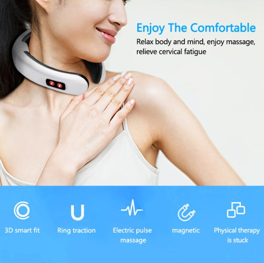 Electric Neck Massager & Far Infrared Heating Pain Relief Tool