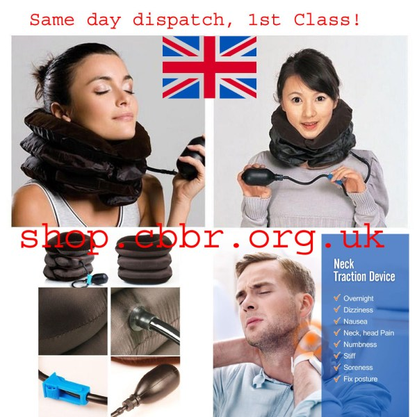 Inflatable Air Neck Traction Support for Neck Pain Stress Relief Neck Stretcher