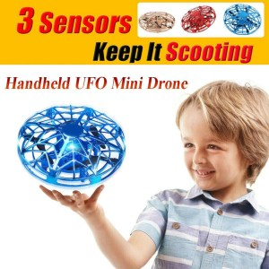 UFO Drone Anti-collision Flying Helicopter Aircraft Sensing Induction Kid Toy