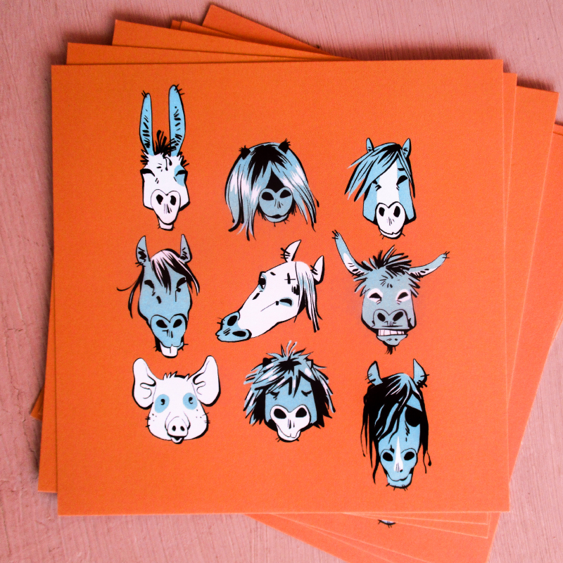 carte artprint animaux