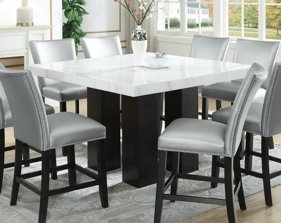 camila square table top w counter table base