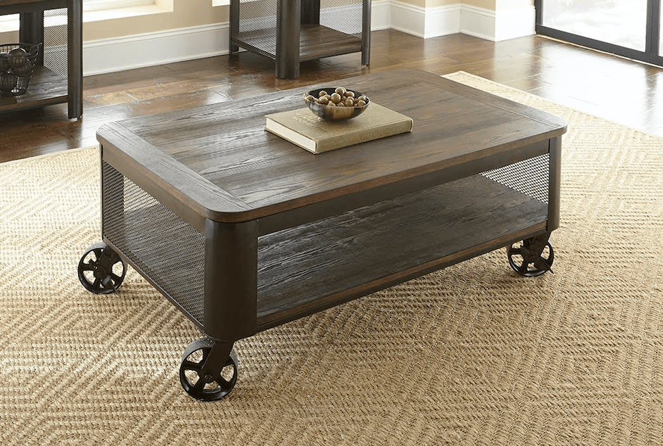 barrow lift top cocktail table w casters