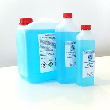 Hand- und Oberflächendesinfektionsmittel 1 und 5 Liter