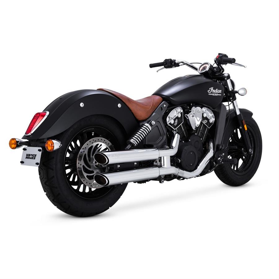3 inch twin slash slip on for indian scout