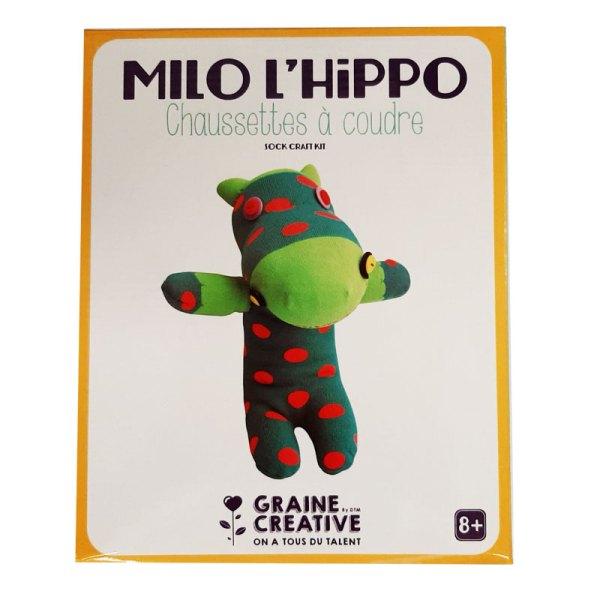 Chaussettes à coudre milo l'hippo
