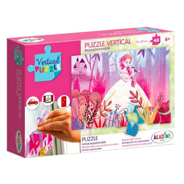 Puzzle vertical repositionnable Princesse