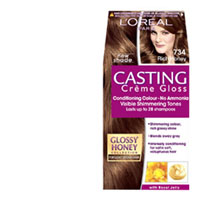 loreal casting creme gloss hair colour honey amber 734 1pk online at countdown
